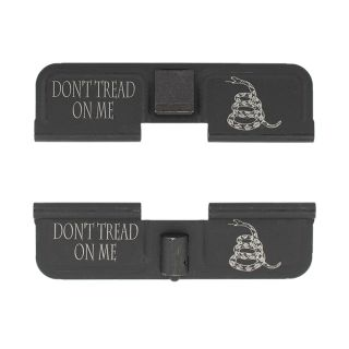 AR-15 Dust Cover - Don't Tread On Me - Double Image - Phosphate Black