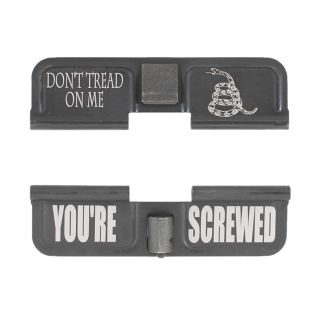 AR-15 Dust Cover - Don't Tread On Me - You're Screwed - Phosphate Black