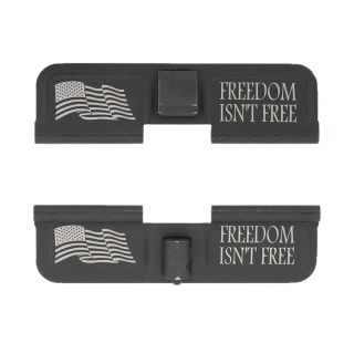 AR-15 Dust Cover - Freedom Isn't Free - Double Sided - Phosphate Black