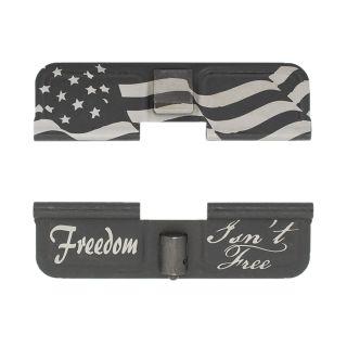 AR-15 Dust Cover - Freedom Isn't Free - Flag Wrap - Phosphate Black