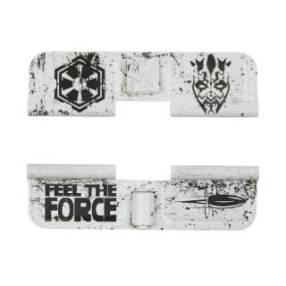 AR-15 Dust Cover - Galactic Empire Feel The Force- Cerakote White