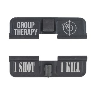 AR-15 Dust Cover - Group Therapy - 1 Shot 1 Kill - Phosphate Black