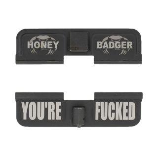 AR-15 Dust Cover - Honey Badger - You're Fcked - Phosphate Black