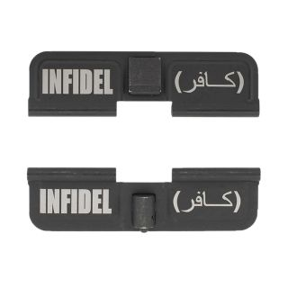 AR-15 Dust Cover - Infidel - Double Image - Phosphate Black