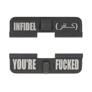 AR-15 Dust Cover - Infidel - You're Fcked - Phosphate Black