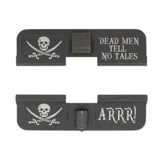 AR-15 Dust Cover - Jolly Roger - ARRR! - Phosphate Black