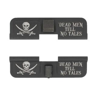 AR-15 Dust Cover - Jolly Roger - Double Image - Phosphate Black