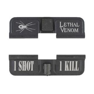 AR-15 Dust Cover - Lethal Venom - 1 Shot 1 Kill - Phosphate Black