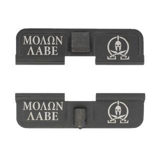 AR-15 Dust Cover - Molon Labe - Double Image - Phosphate Black