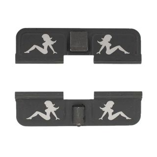 AR-15 Dust Cover - Mudflap Girl - Double Sided - Phosphate Black
