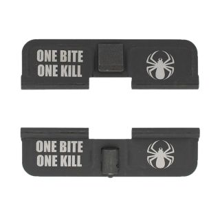 AR-15 Dust Cover - One Bite One Kill - Double Image - Phosphate Black