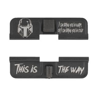 AR-15 Dust Cover - The Mandalorian This is the Way - Phosphate Black