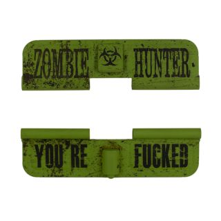 AR-15 Dust Cover - Zombie Hunter - You're Fucked - Cerakote Zombie Green