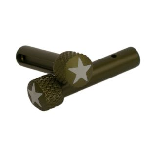 AR-15 Extended Takedown Pins - American Star - Anodized Olive Drab Green