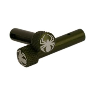 AR-15 Extended Takedown Pins - Black Widow - Anodized Olive Drab Green