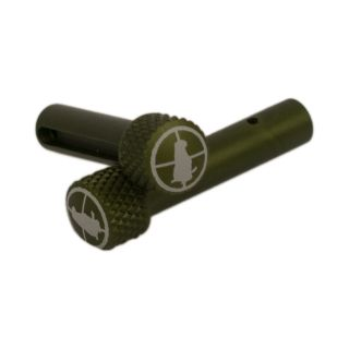 AR-15 Extended Takedown Pins - Gopher Hunter - Anodized Olive Drab Green