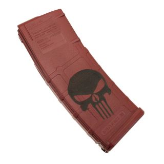 AR-15 PMAG MOE - Punisher Skull - Cerakote Red (30 Round)