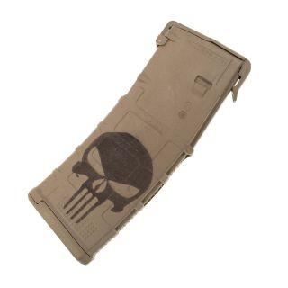 AR-15 PMAG MOE - Punisher Skull - Magpul Desert Tan (30 Round)