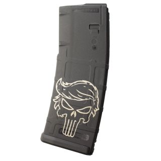 AR-15 PMAG MOE - Punisher Trump - Black (30 Round)