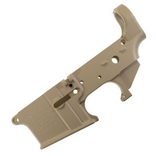 AR-15 Stripped Lower Receiver - Blank (FFL Required) - Cerakote Sand