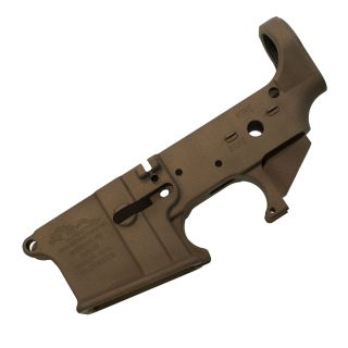 Anderson AR-15 Stripped Lower Receiver - (FFL Required) - Cerakote Burnt Bronze