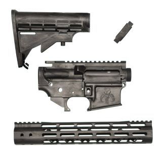 AR-15 Themed Upgrade Kit - Mandalorian - Cerakote Battleworn Beskar (FFL Required)