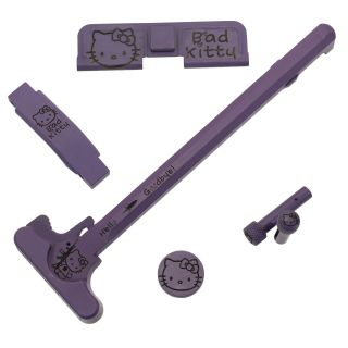 AR-15 Upgrade Bundle - 5 Piece - Hello Kitty - Cerakote Purple