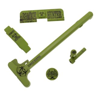AR-15 Upgrade Bundle - 5 Piece - Zombie Hunter - Cerakote Zombie Green