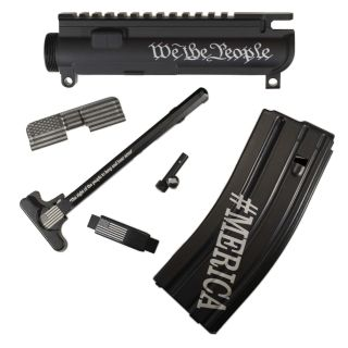 AR-15 Upgrade Bundle - 6 Piece Package - American Patriot - Anodized Black