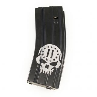 AR-15/M16 .223-5.56 Magazine - 2nd Amendment Skull - Black (30 Round)