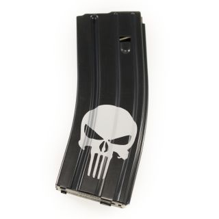 AR-15/M16 .223-5.56 Magazine - Punisher Skull - Black (30 Round)