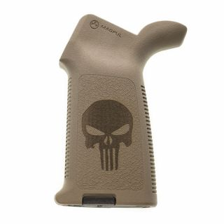 AR-15/M4 Magpul MOE Grip - Punisher Skull - Flat Dark Earth