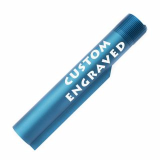 Buffer Tube - Custom Engraved - Anodized Blue