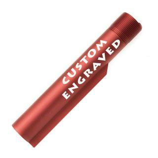 Buffer Tube - Custom Engraved - Anodized Red