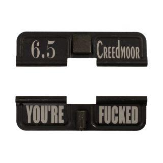 AR-10 Dust Cover - 6.5 Creedmoor - You're F*cked - Phosphate Black