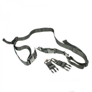 """AR-15 Dual & Single Point Multi-Mission Sling - 2 HK Style Hooks & 2 QD 62"""""""