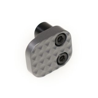 Extended Magazine Release - Blank - Anodized Gray
