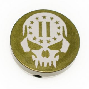 Forward Assist Cap - 2nd Amendment Skull - Anodized Olive Drab Green