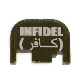 Glock Rear Slide Plate - Infidel - Olive Drab Green