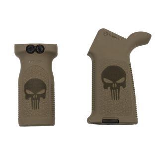Magpul MOE + RVG Grip Set - Punisher Skull - FDE