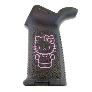 AR-15/M4 Magpul MOE Grip - Hello Kitty Full Body - Pink on Black