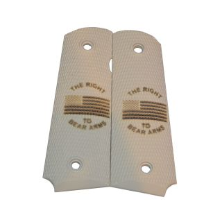 1911 Laser Engraved Grip - The Right to Bear Arms - Ivory