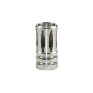 1/2x28 Muzzle Brake, A2 Stainless Steel