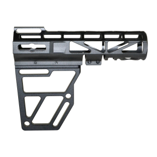 AR-15 Skeletonized Pistol Arm Brace - Anodized Black