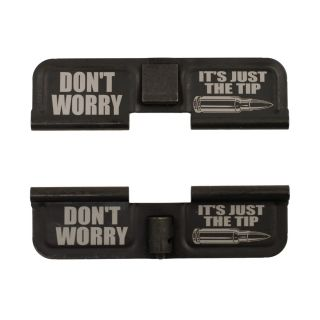 AR-15 Dust Cover - Don't Worry It's Just the Tip - Double Image -  Phosphate Black