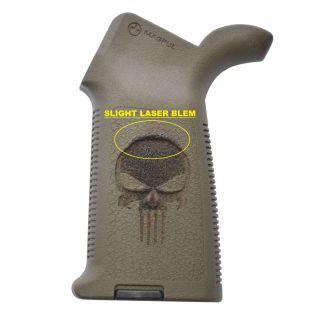 AR-15/M4 Magpul MOE Grip - Punisher Skull - Olive Drab Green *BLEMISH*