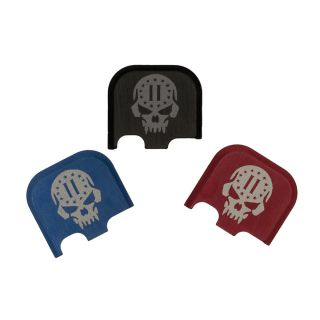 Rear Slide Plate for Glock 43, 43x and 48 - 2nd Amendment Skull