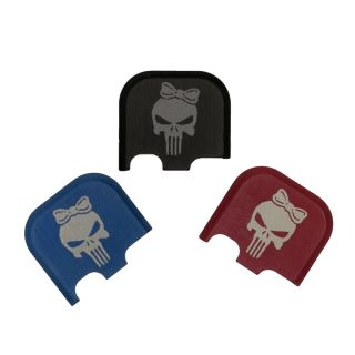 Rear Slide Plate for Glock 43, 43x and 48 - Punisher Girl