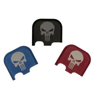 Rear Slide Plate for Glock 43, 43x and 48 - Punisher Skull