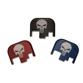 S&W M&P Full Size Rear Slide Plate - Punisher Skull